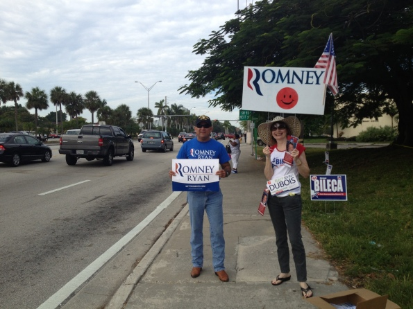 Romney-Anhänger in Palmetto Bay