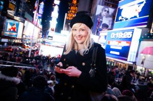 Kim Bode am Times Square